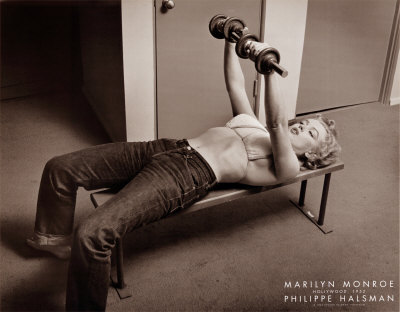 Marilyn Monroe Working Out