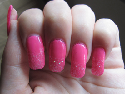 Fluro Pink with Crystal Glitter