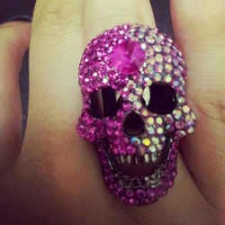 Amazing pink bling skull ring. Only $10!